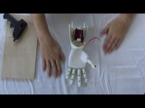 Assembly of 3D Printed Prosthetic Hand   From Thingiverse