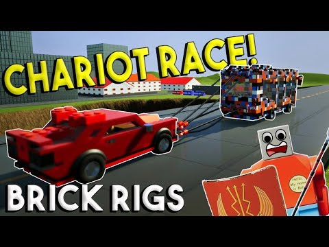 MULTIPLAYER CHARIOT RACE CHALLENGE - Brick Rigs Multiplayer Gameplay Challenge
