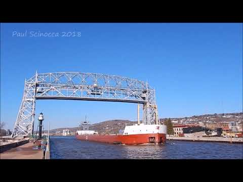 Can You Hear ME NOW ??  The Cedarglen departing Duluth loaded with ore.