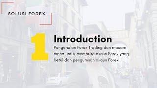 Solusi Forex Zero #1 - The Introduction