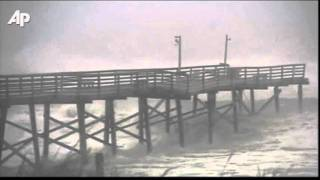 Raw Video: NC Fishing Pier Partially Collapses