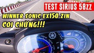 Sirius FI 58zz đi phố | Sonic Winner Ex150 zin coi chừng bị gõ
