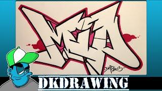 How to draw graffiti names -  Mia #1
