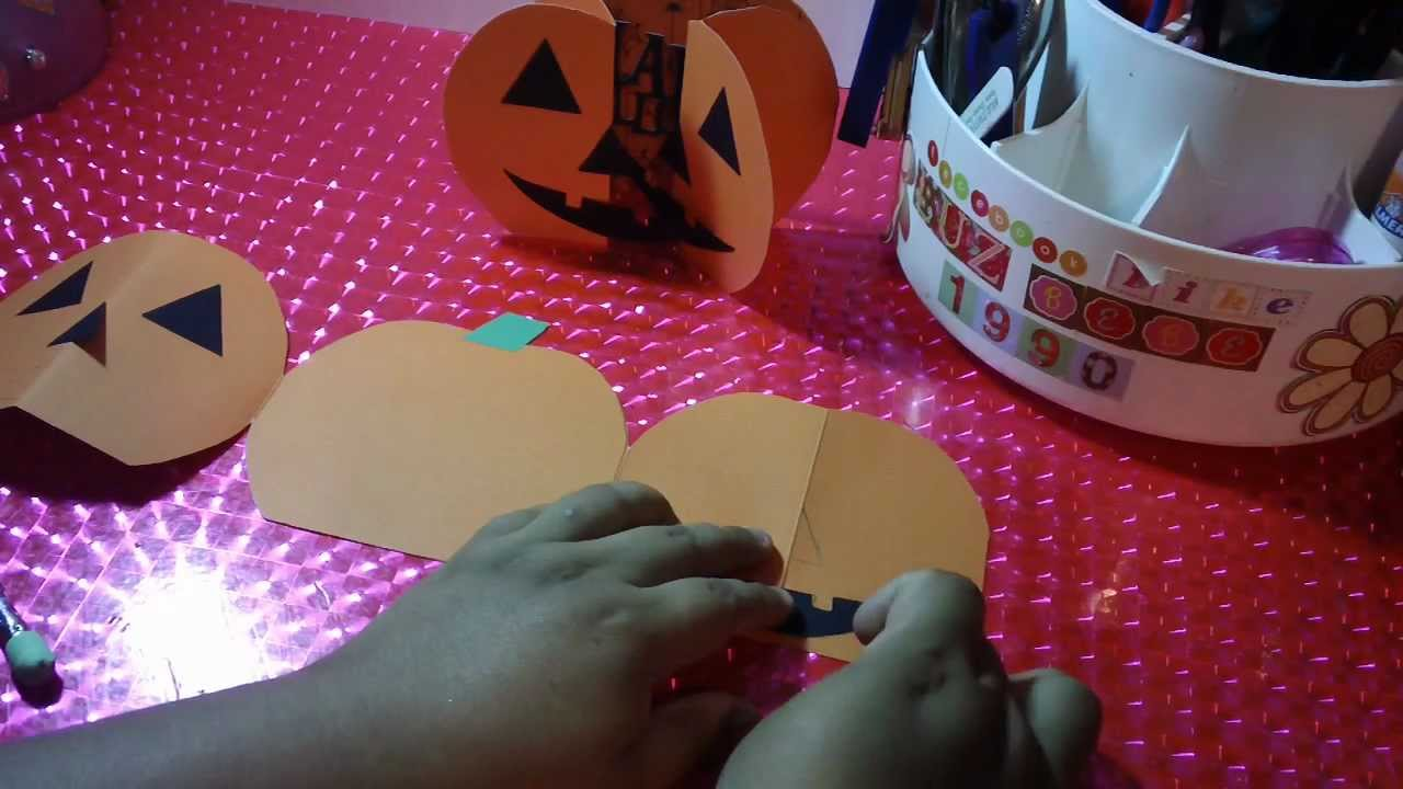 TARJETA*INVITACION para HALLOWEEN calabaza POP OPEN ORIGINAL - YouTube