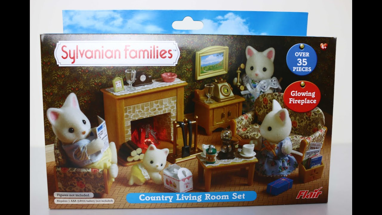 Country Living Room Set Sylvanian Families Youtube