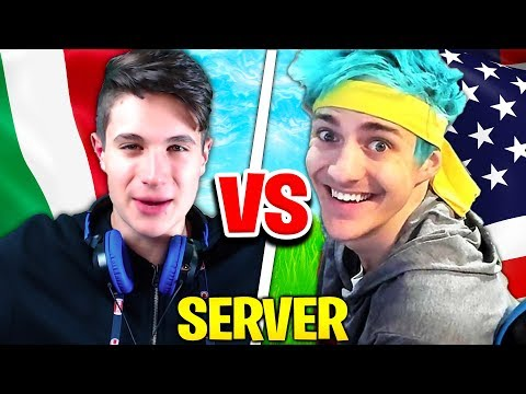 IL SERVER DI NINJA vs SERVER ITALIANO su FORTNITE!! Scopro qual è il migliore...
