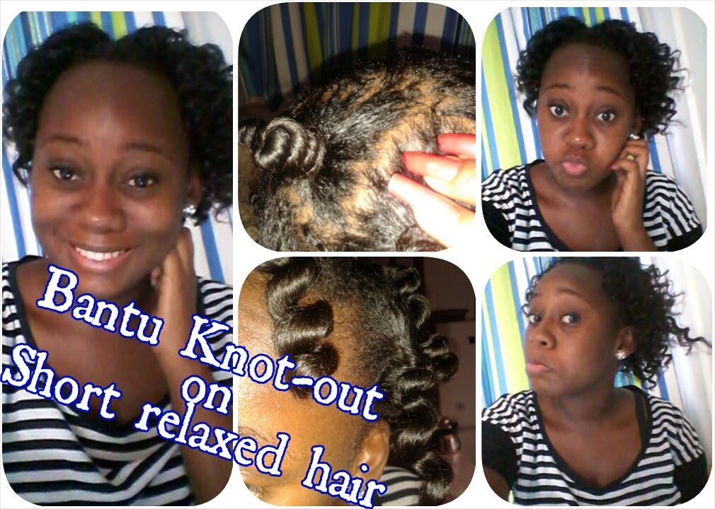 12 How To Bantu Knot Out On Short Relaxed Hair Youtube