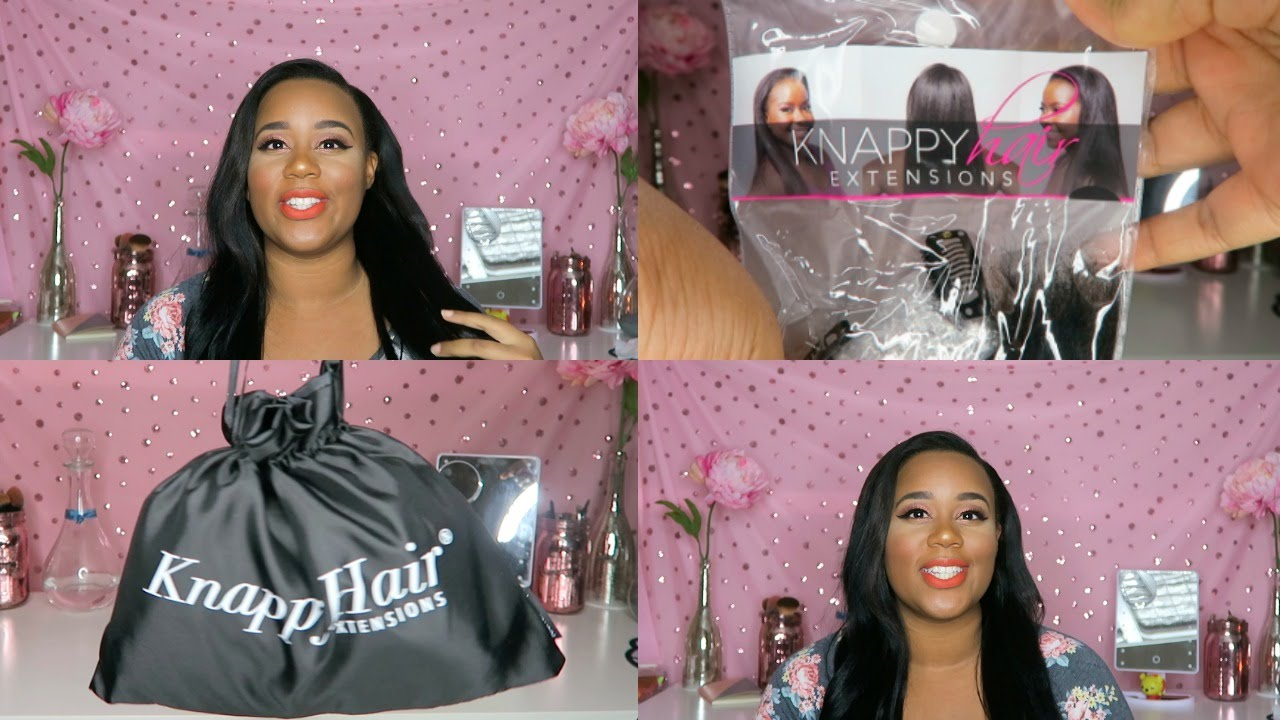 Knappy hair extensions not so knappy clip in first impressions knappy hair extensions not so knappy clip in first impressions unbox wash and install youtube pmusecretfo Choice Image