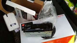 Установка музыки в Nissan Note   магнитола JVC KD X155 динамики JBL CS763