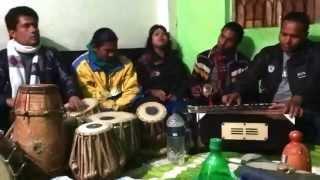 Baul performers of Bengali mystical folk music in Kushtia, Bangladesh