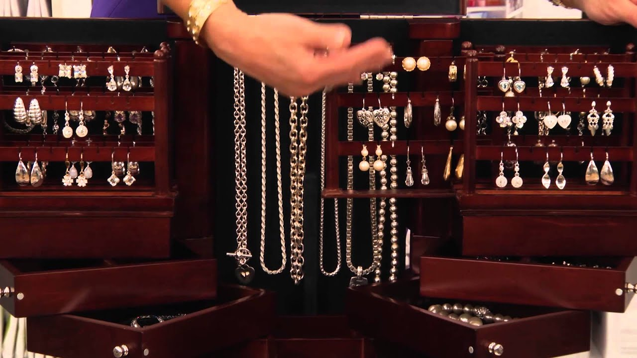 Lori Greiner AntiTarnish Wood Jewelry Box at Bed Bath Beyond