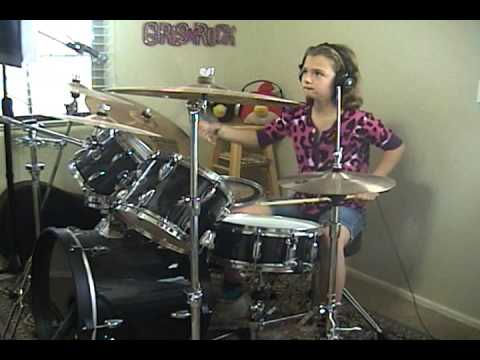 """The Beatles """"Come Together"""" A Drum Cover By Emily"""