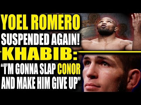 Yoel Romero gets Banned for 60 days, Khabib on UFC in Russia & How he'll beat Conor McGregor