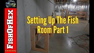 Building Stands For Mixing, Quarantine & Frag Tanks | Fish Room Setup Part 1