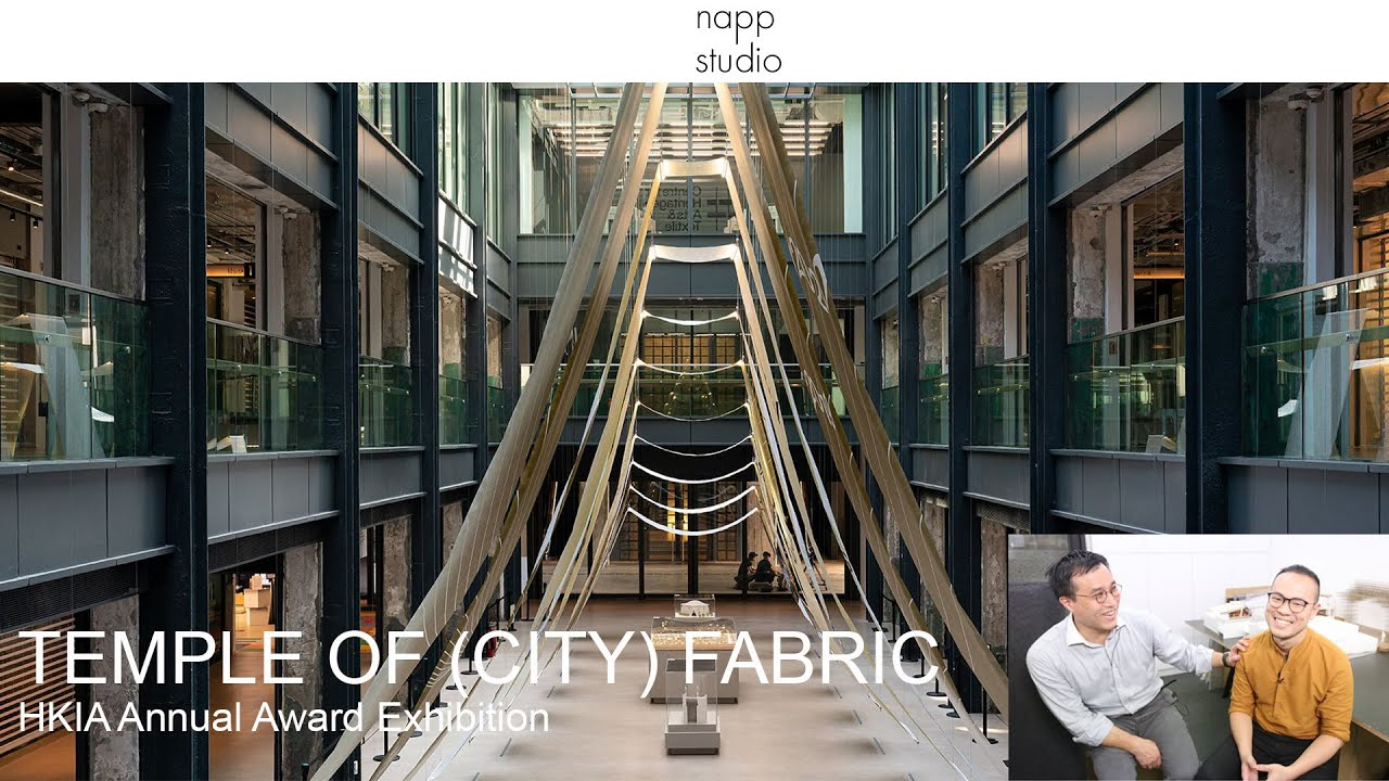 Napp studio: TEMPLE OF (CITY) FABRIC - use fabric to create ceremony space