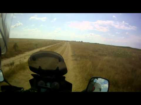 Suzuki DL 650 V-Strom off-road ride on Arabat spit, part 7