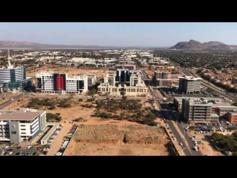 birds eye view of gaborone