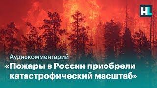 «Пожары в России приобрели катастрофический масштаб»