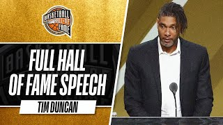 Tim Duncan | Hall of Fame Enshrinement Speech