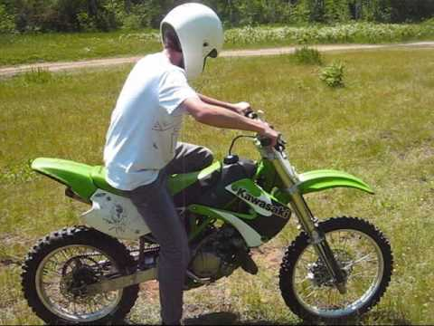 2001 Kawasaki KX100 2 Stroke First Ride - YouTube