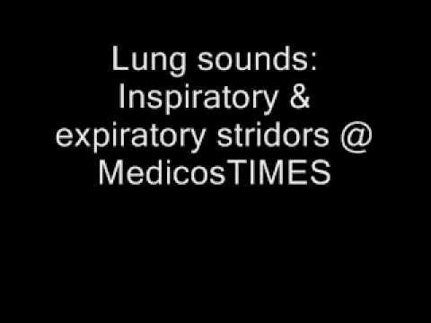 inspiratory & expiratory stridors