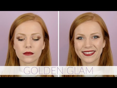 Makeup For Redheads - GOLDEN GLAM | Gold Eye, Berry Lip Makeup Tutorial | Simply Redhead