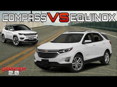 Comparativo Chevrolet Equinox VS  Jeep Compass Limited Diesel   Garagem 2 0