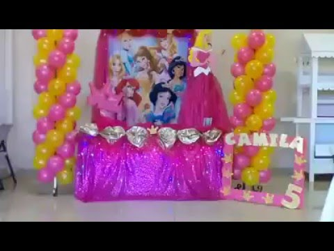 Decoraci n de fiesta princesa aurora la bella durmiente for Decoracion de princesas