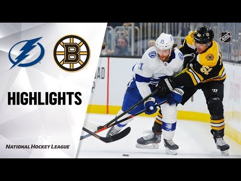 NHL Highlights | Lightning @ Bruins 3/7/20