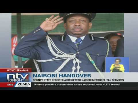 Handover: Nairobi County Staff Register Afresh With Nairobi Metropolitan Services