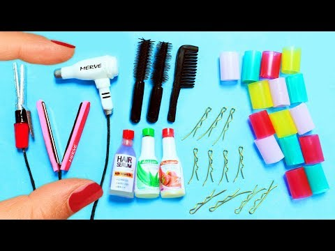 How to Make Miniature Hair Salon Products - 10 Easy DIY Miniature Doll Crafts - simplekidscrafts