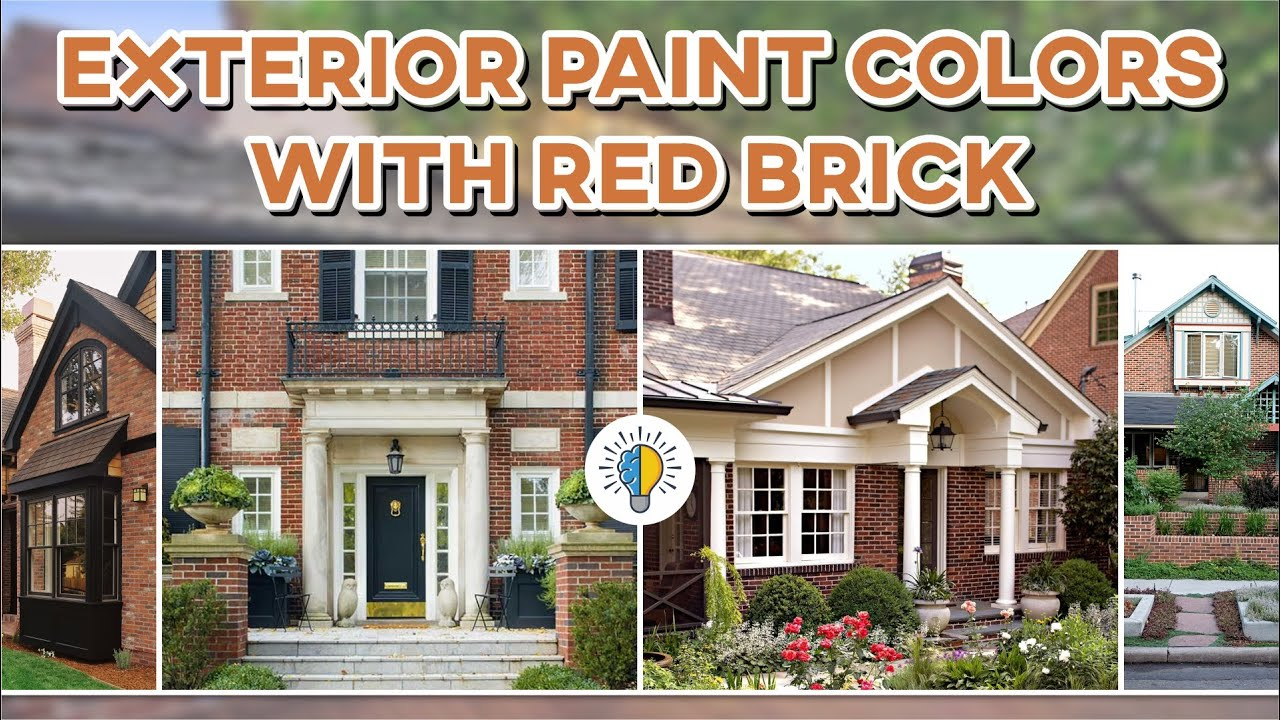 44 Exterior Paint Colors With Red Brick Godiygo Com