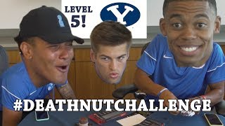 BYU Football attempts the Death Nut Challenge! (Part 2)