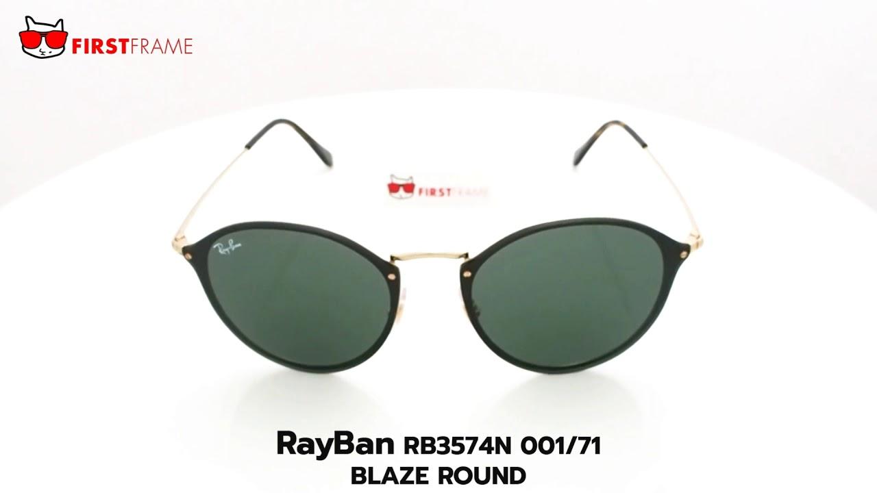c90d3c57e3 RayBan RB3574N 001 71 BLAZE ROUND - YouTube