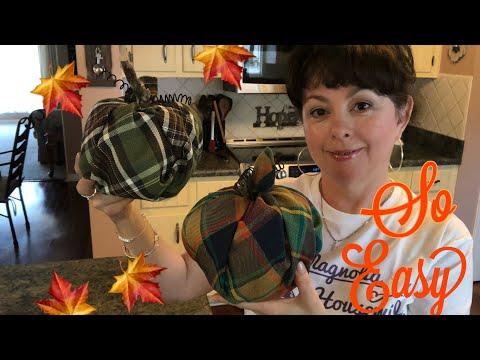 DIY Fall No Sew Pumpkins 2019