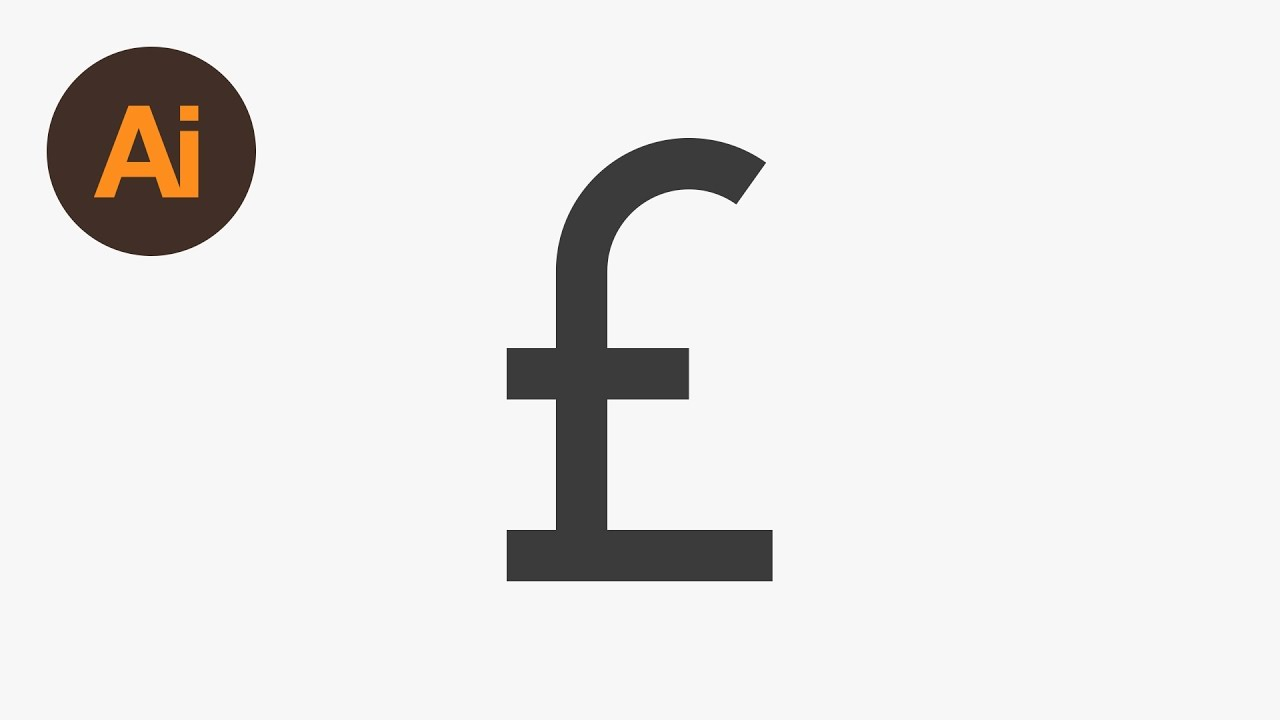 Design A Currency Symbol Illustrator Tutorial Youtube