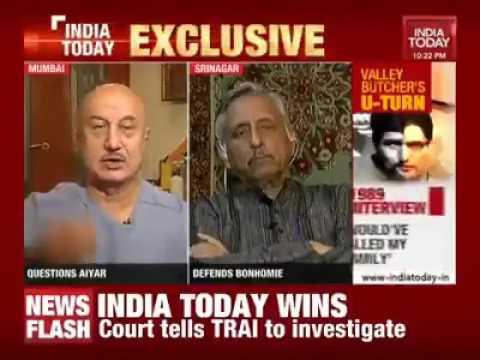 Anupam Kher Hits Out at Manishankar Aiyar About His Visit to Kashmir