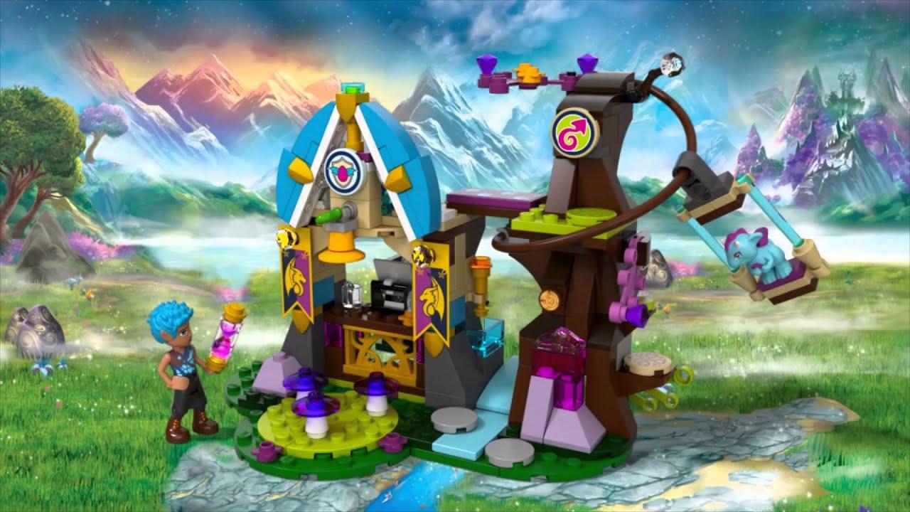 Ausmalbilder Lego Elves Drachen: Elvendale School Of Dragons