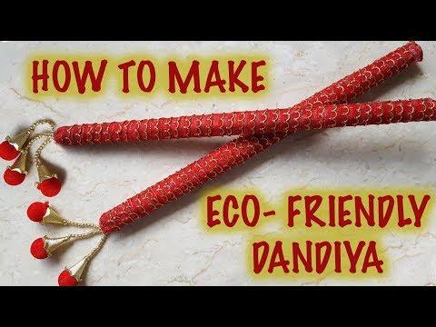 How To Make Eco-Friendly Dandiya | Newspaper Craft For Navratri | Kreena Desai