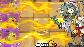 Plants Vs Zombies 2: NEW PLANTS Carrot Launcher Fire Gourd NEW Costume Dragon Fire