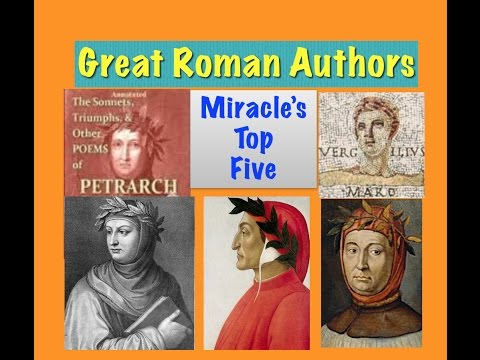 Miracle's Top Five : Great Roman/ Italian Authors
