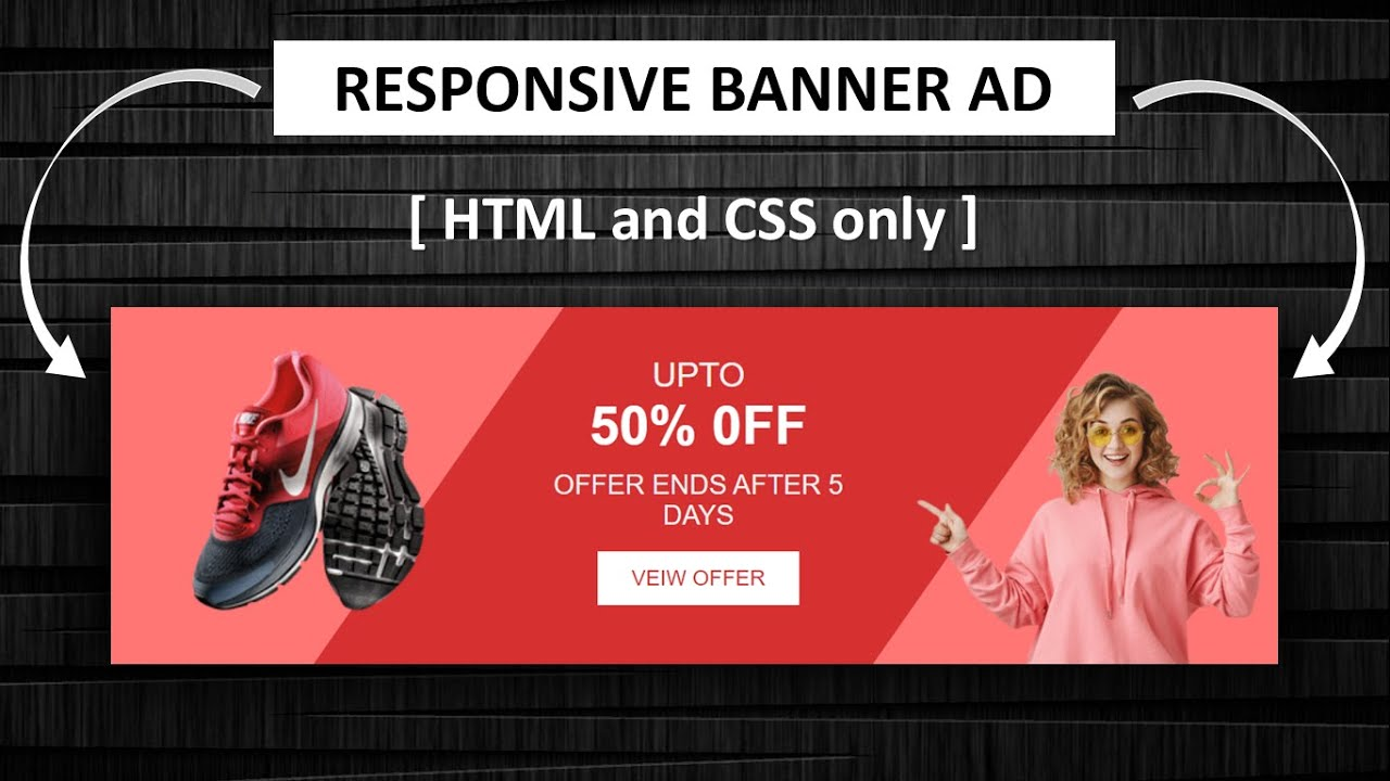 Create A Responsive Banner Ad Design Using HTML And CSS Only