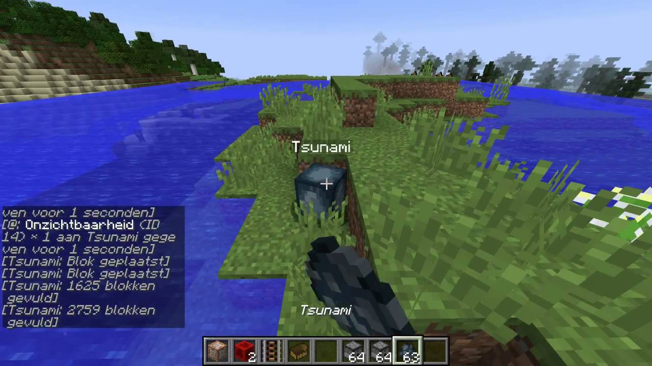 minecraft tsunami only one command (only one command: me, commands: Jorji  cat)