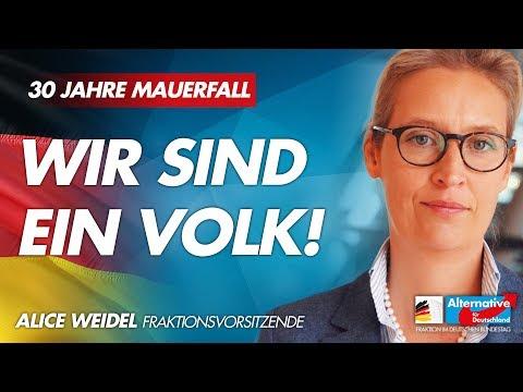 30 Jahre Mauerfall: Wir sind ein Volk! - Alice Weidel - AfD-Fraktion Bundestag