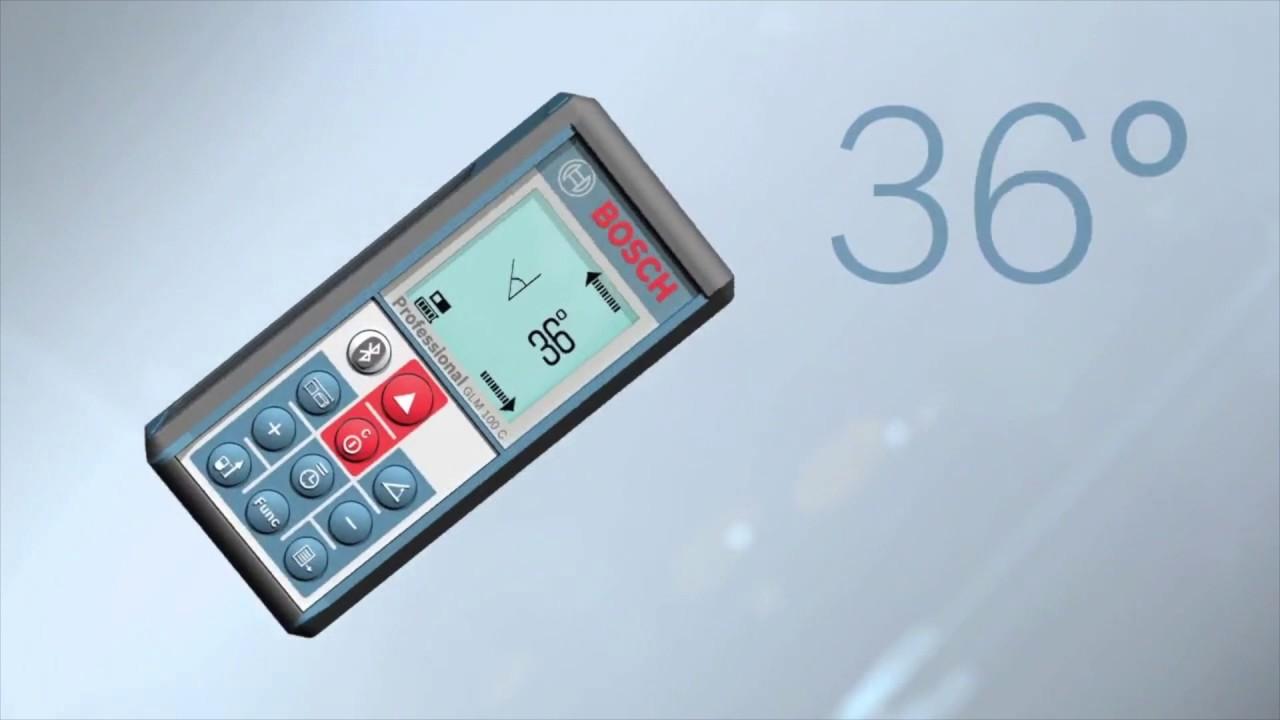Bosch Glm 100 C Laser Rangefinder With Bluetooth Product Overview Meteran Digital 50 Professional