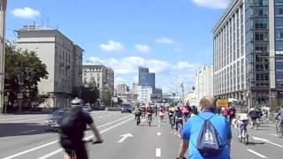 モスクワの自転車パレード 2014年6月29日