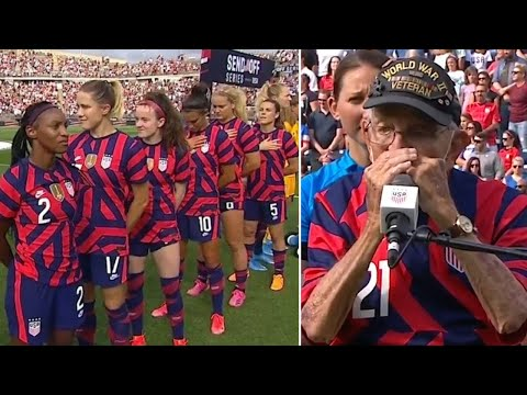 Did The US Women's Soccer Team DISRESPECT And Turn Their Backs To Veteran During National Anthem?!?