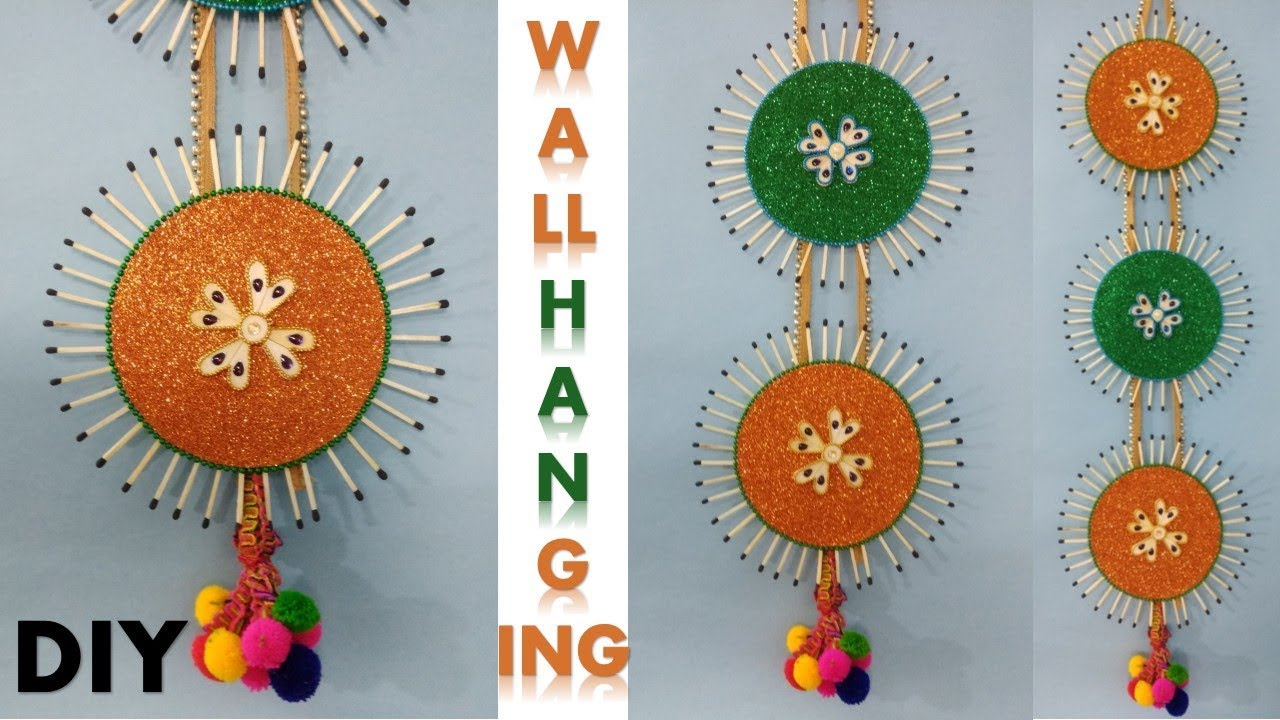 DIY Wall hanging craft || Room decoration ideas || Diwali ...