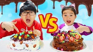 폴리 인형뽑기 장난감으로 랜덤뽑기 복불복 케이크 만들기 놀이 해봤어요! 어떤 케이크가 만들어 졌을까요? CAKE CHALLENGE
