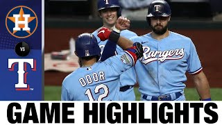 Rougned Odor Crushes Two Home Runs In 8-4 Win | Astros-Rangers Game Highlights 9/27/20